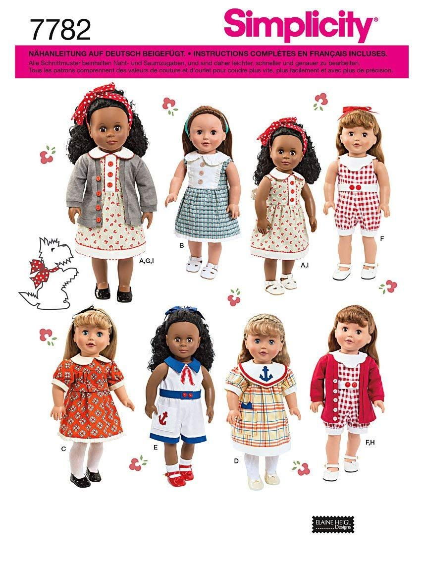 Dolls Küche Simplicity Sewing Pattern 7782 Doll Clothes Amazon De Küche