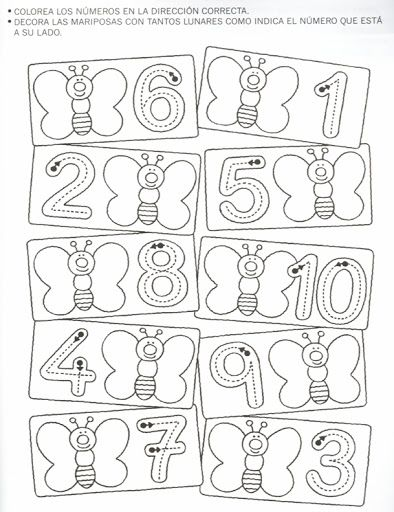 butterfly counting worksheet | Crafts and Worksheets for Preschool ...