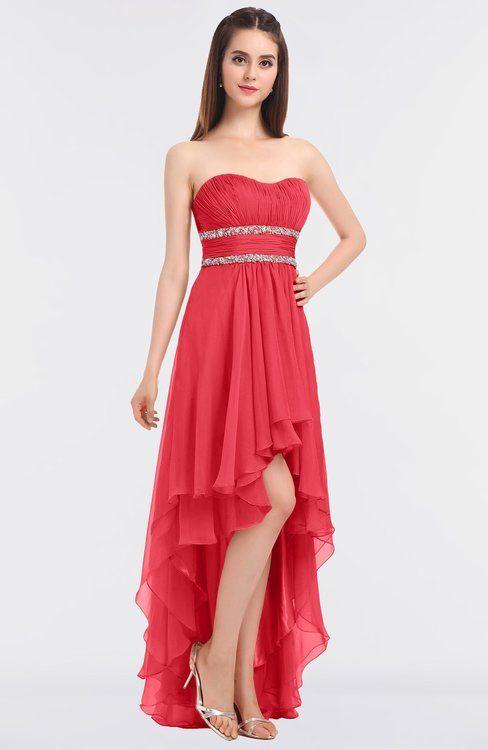 4d54d3c880725 Elegant A-line Strapless Sleeveless Zip up Floor Length Bridesmaid Dresses