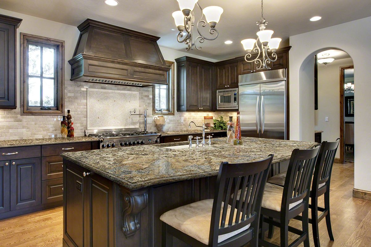 good looking kitchen countertop types. LOOKING AT DOING DARK CABINETS  A BLACK BROWN TYPE COLOR