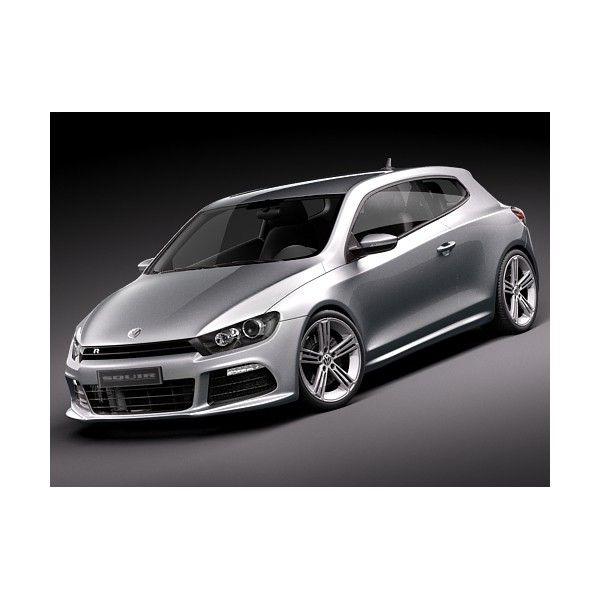 Volkswagen Scirocco R 2010 Sports Car 3D Model