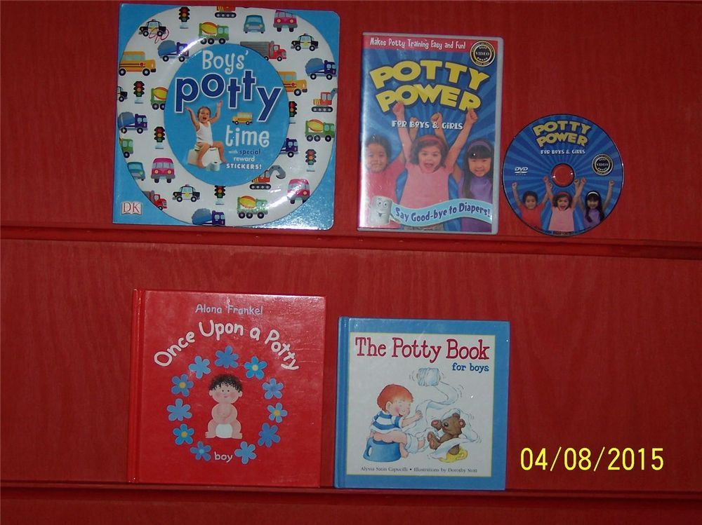 4 Boys Toilet Training BooksPotty Power DVDCapucilliDKOnce Upon