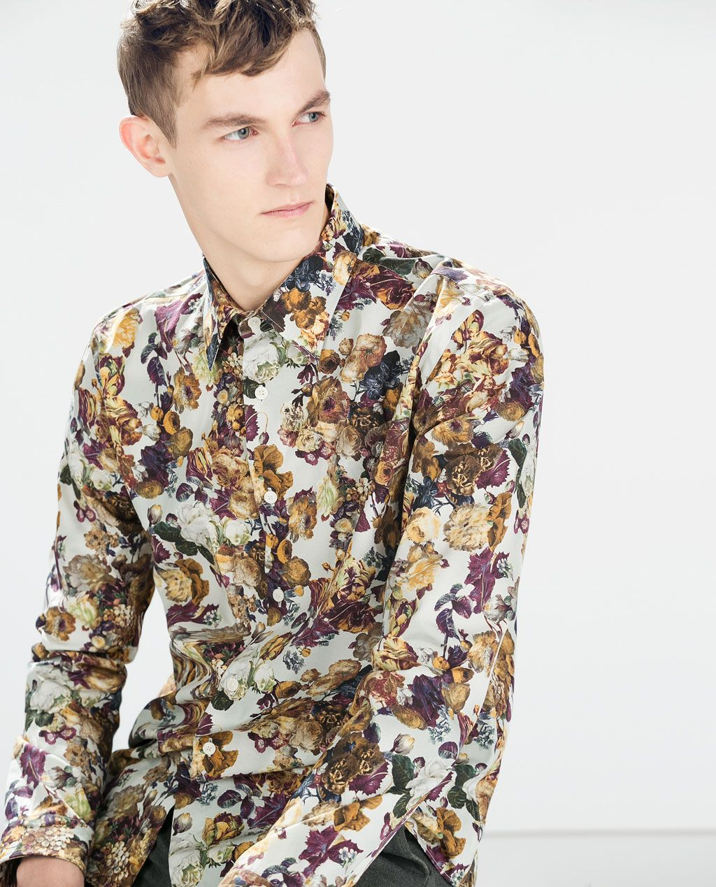 b1d3a0eb6bae FLORAL PRINT SHIRT from Zara | Dress Like A Gentleman in 2019 ...