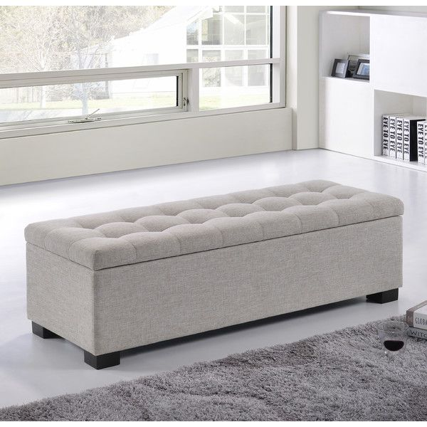 Sofa Bench With Storage Grey Fabric Storage Bench Steal A ...