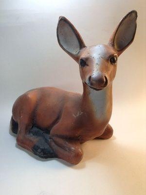 Vintage Concrete Deer Garden Statue Lawn Ornament In Tacoma Wa Sells For 145 Deer Garden Garden Statues Lawn Ornament