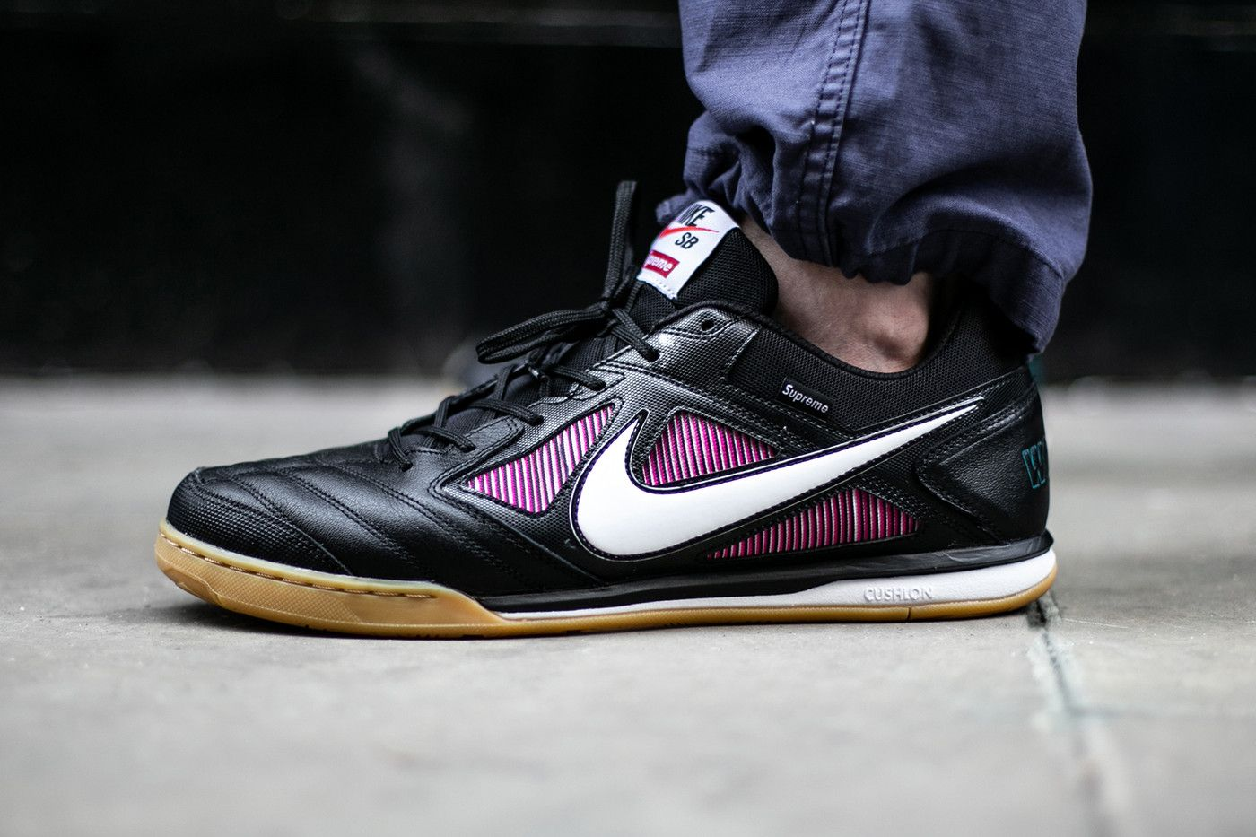 the latest 88bae 649af Supreme Nike SB Gato Closer First Look Black Colorway
