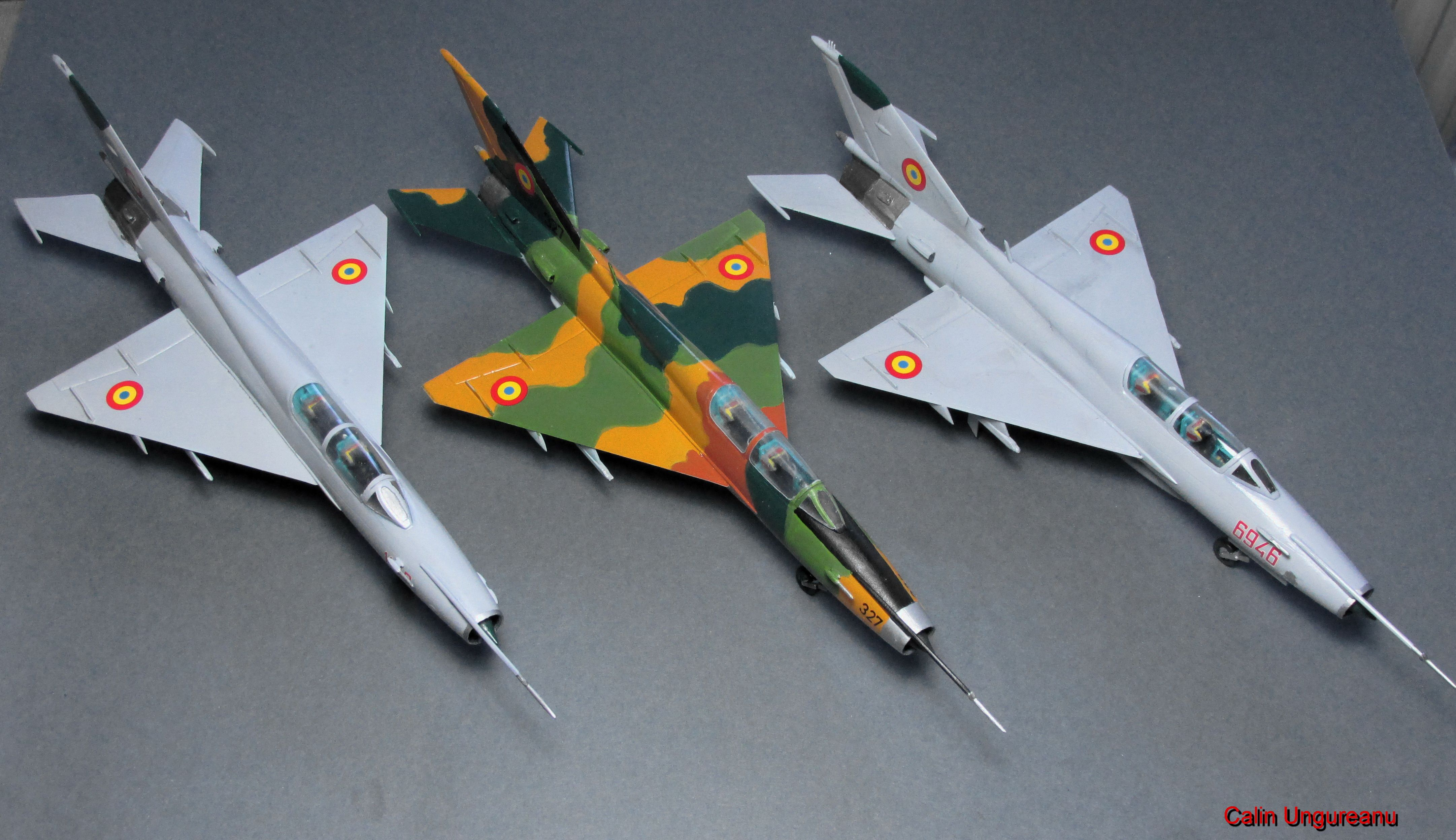 MIG 21 DC Romanian Airforce Model airplanes, Mig 21