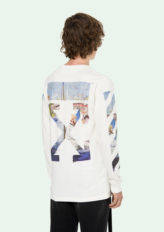 Off White T Shirt L S Offwhite Long Sleeve Tshirt Men Mens Fashion Summer Mens Fashion