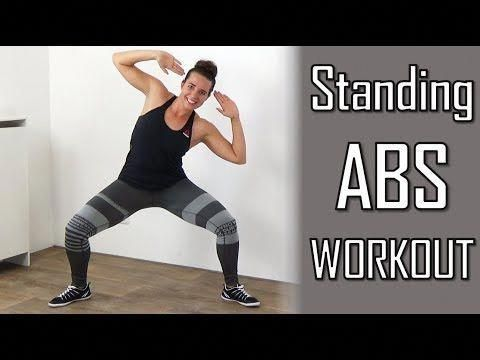 10 minute standing abs workout  belly flattening abs