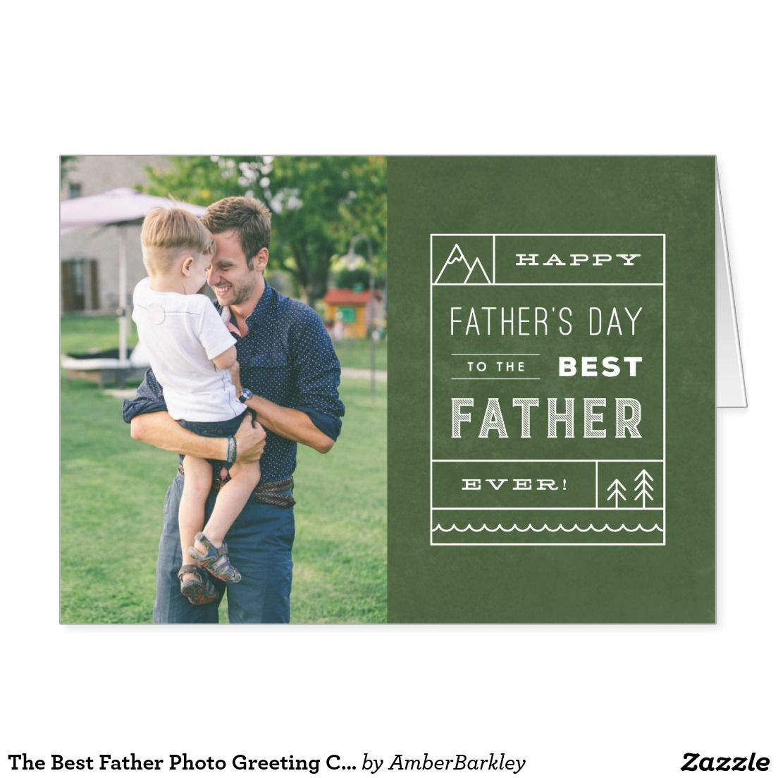 The Best Father Photo Greeting Card Army Photo Greeting Cards