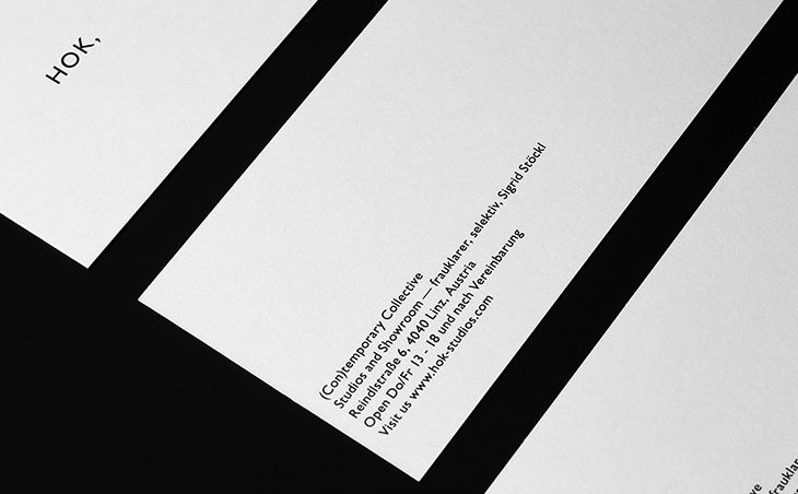 Hok, Studios (Con)temporary Collective designed by OrtnerSchinko  http://typeverywhere.com/hok-studios-contemporary-collective/ - #Brand, #Packaging