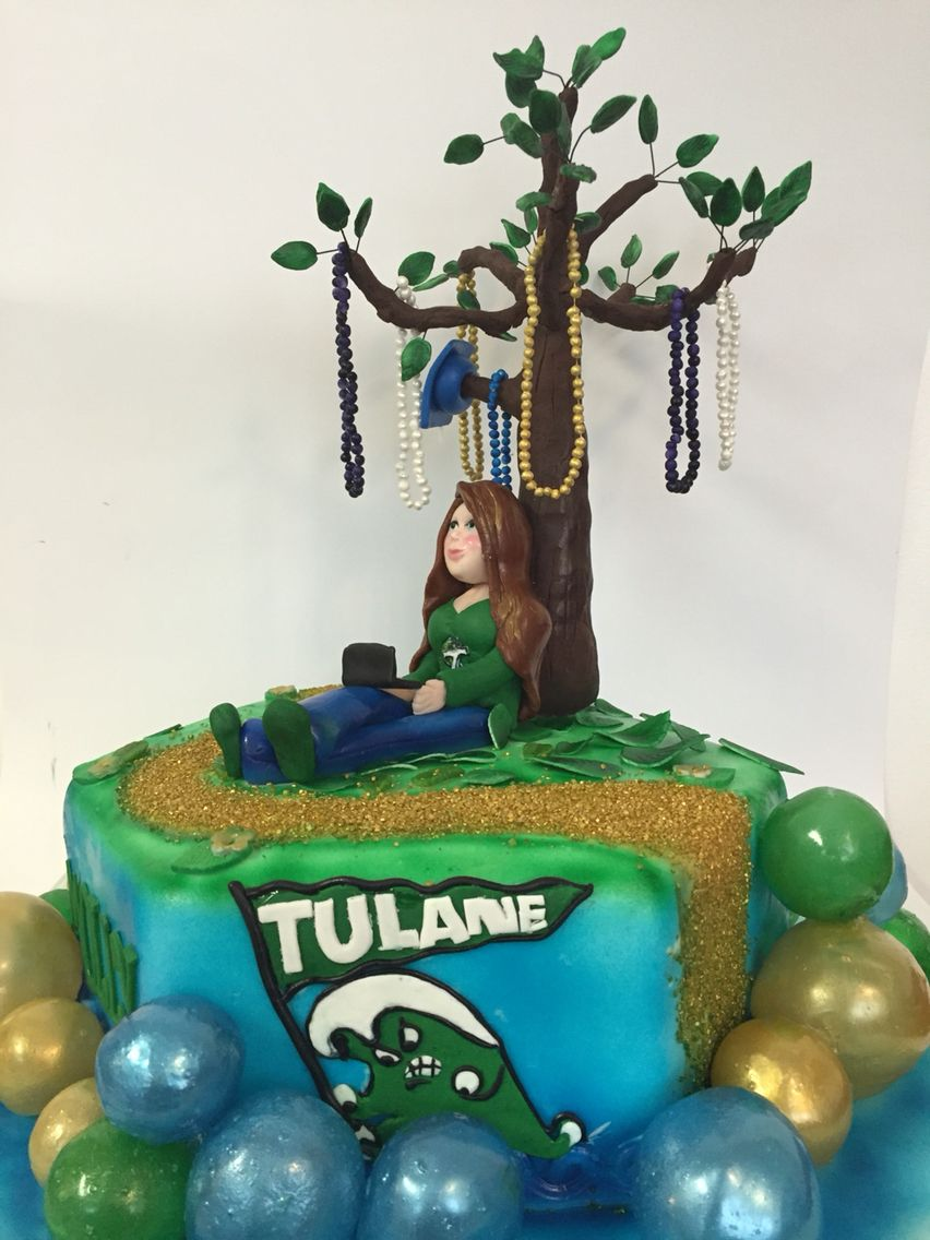 Home college tulane green wave tulane green wave silver plated - Tulane Graduation Cake Https M Facebook Com Cakeconceptsbyty
