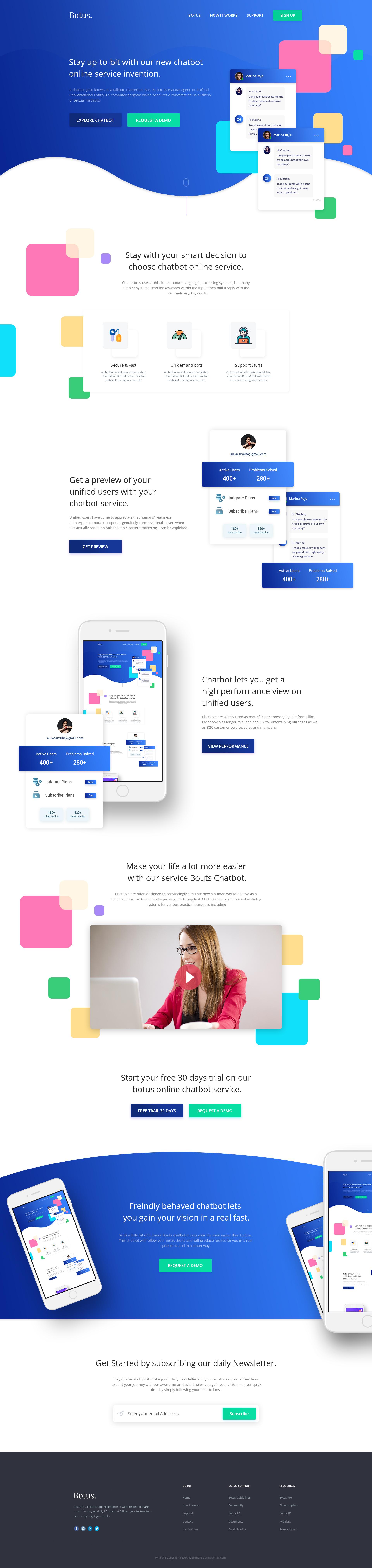 Chatbot Landing 2 Web App Design App Design Web Layout Design