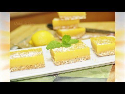 Lovely Lemon Bars or Lemon Squares | No Bake | No Egg Video Recipe by Bhavna - YouTube