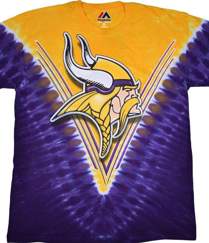 fe5e1bc71c MINNESOTA VIKINGS V TIE-DYE T-SHIRT | I'm Born Pure Purple Blood ...