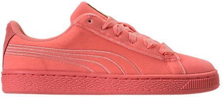 innovative design 42bea 56bce ... Puma Girls Grade School Basket Classic Velour Casual Shoes, Pink Puma  Basket Classic, ...