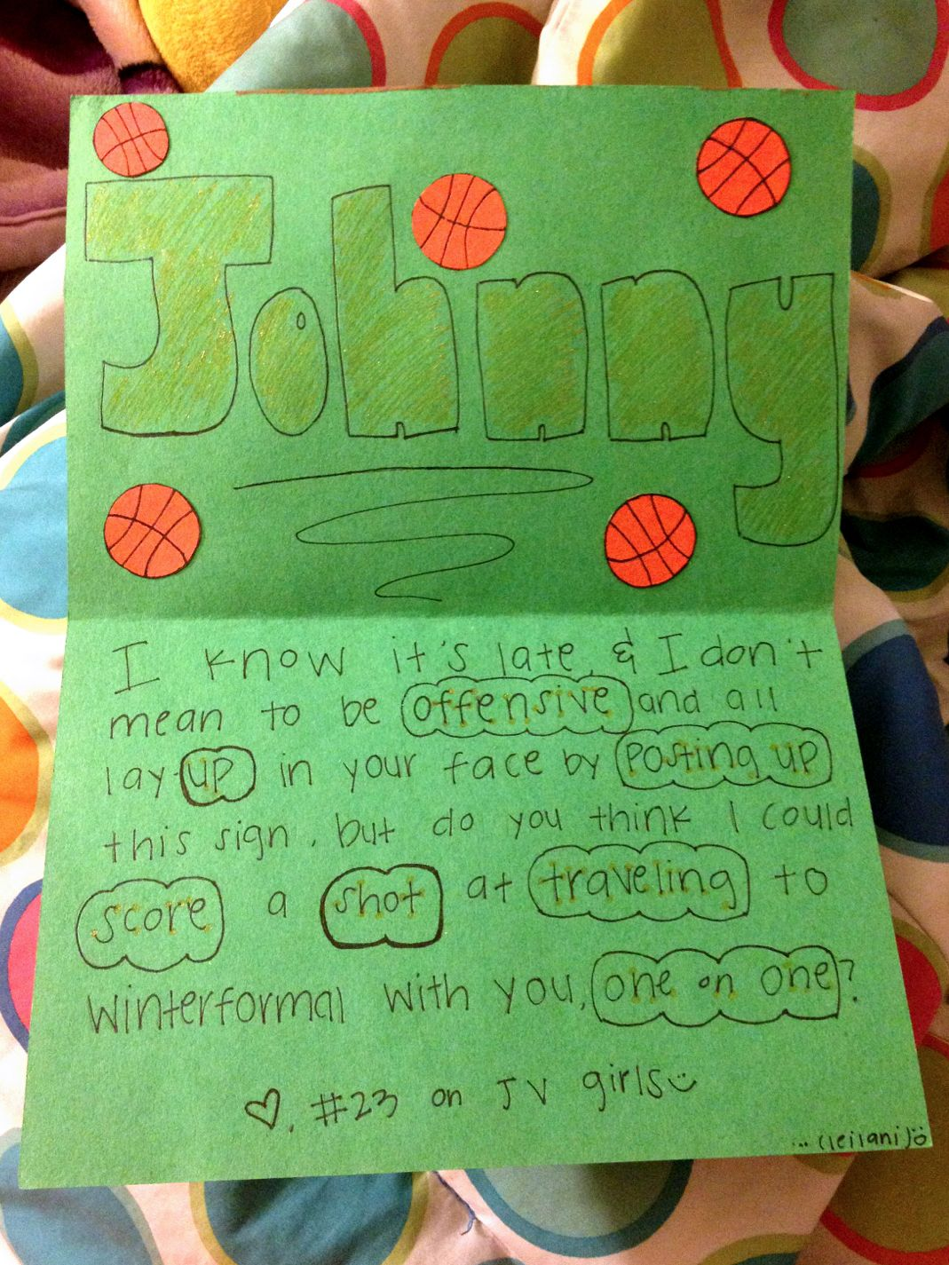 Cute ideas to ask a boy to sadie hawkins - Basketball Sadies Proposals Google Search