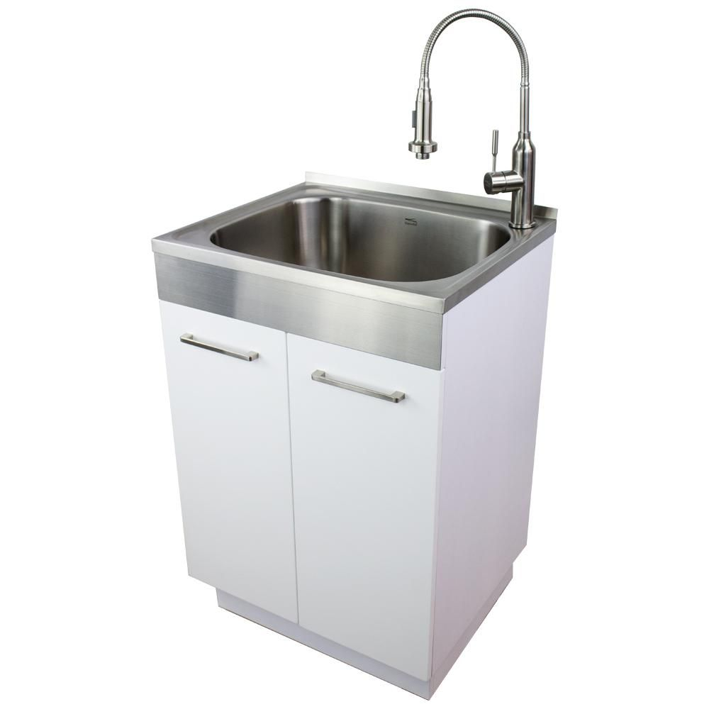 Transolid 24 In X 20 In X 34 6 In Stainless Steel Laundry
