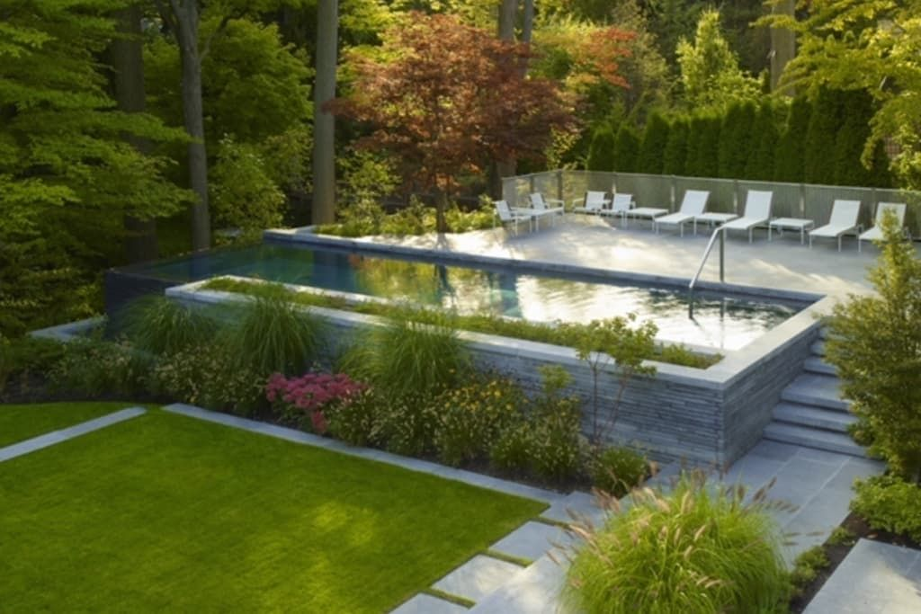 Finde Moderner Pool Designs Garten Gestaltung Entdecke Die Schonsten Bilder Zur Inspiration Fur Die Gestaltung Deines Hintergarten Gartenpools Moderne Pools