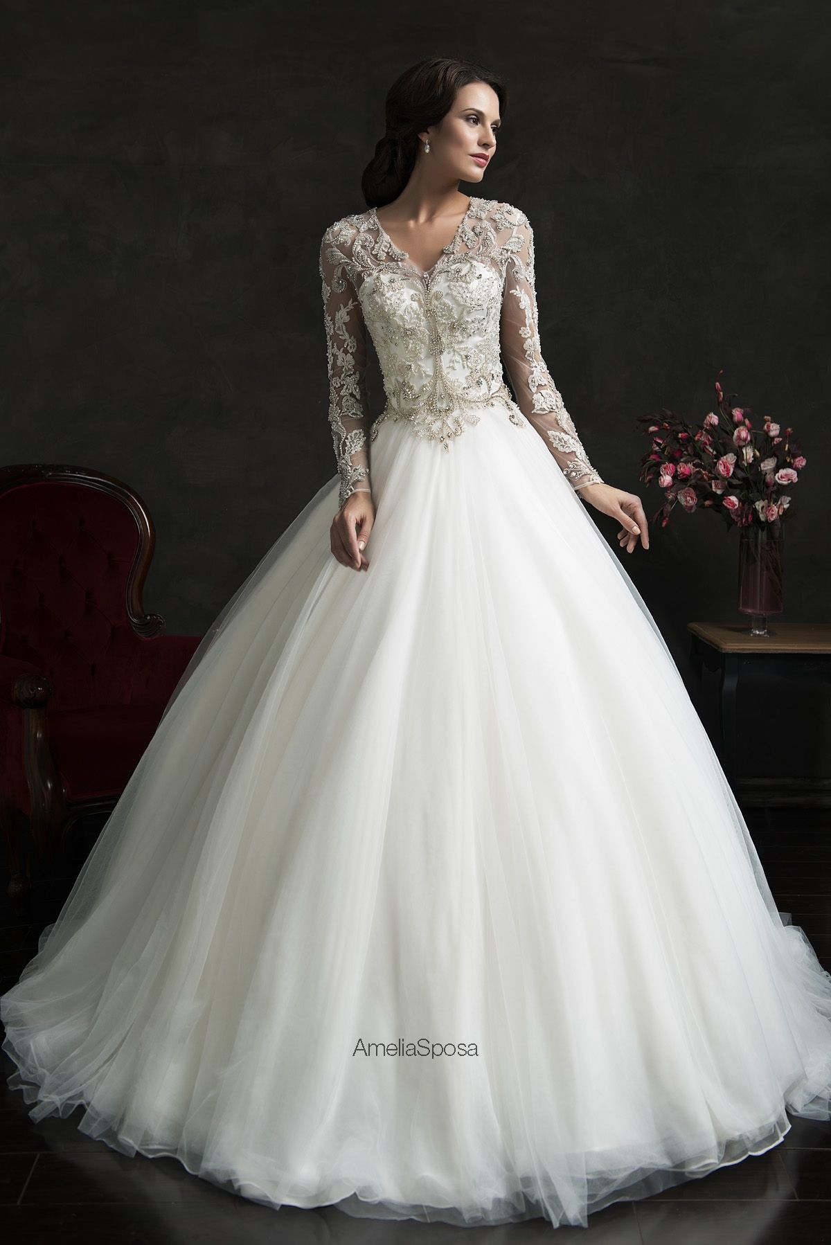 Amelia Sposa 2015 wedding dress gorgeous ness! Embellished wedding dress #ball gown #love by Amelia Sposa   heartoverheels.com