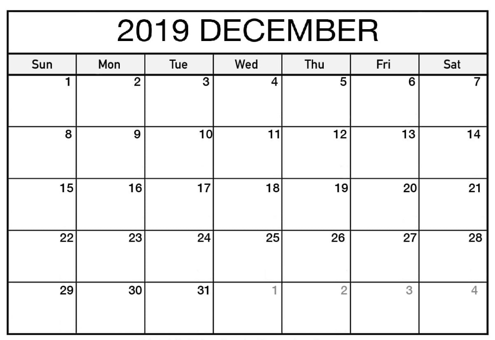 Printable Calendar December 2019 Planner To Do List Free Printable Calendar Template October Calendar August Calendar Calendar 2019 Printable