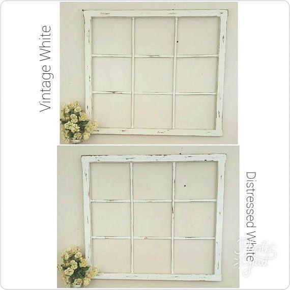 Window Frame 32 X 28 Window Frame Wall Decor Farmhouse Decor