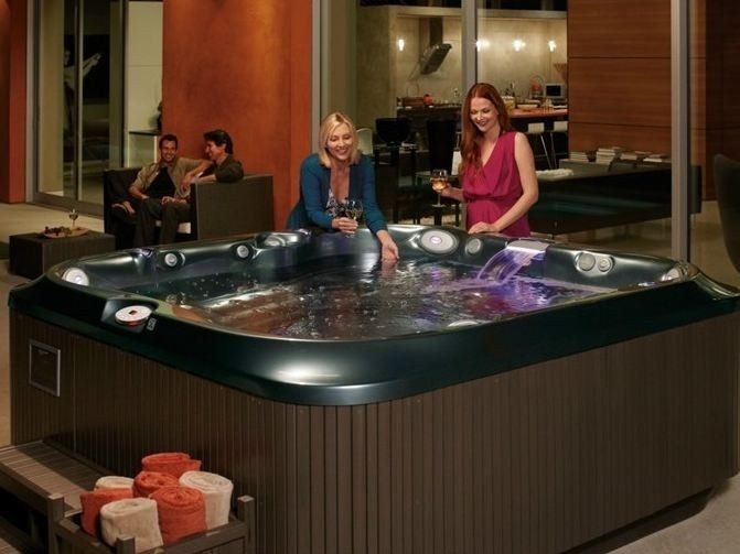 Above Ground Square Hydromassage Hot Tub J 335 New By Jacuzzi
