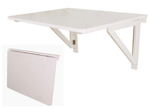Tavoli Da Parete Cucina : Sobuy fwt05 tavolo da parete pieghevole in legno 75 x 60 cm