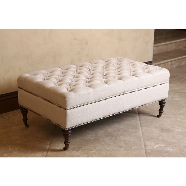 Merveilleux Monica Pedersen Beige Tufted Linen Storage Ottoman By Abbyson Living    Overstock™ Shopping   Great Deals On Abbyson Living Ottomans