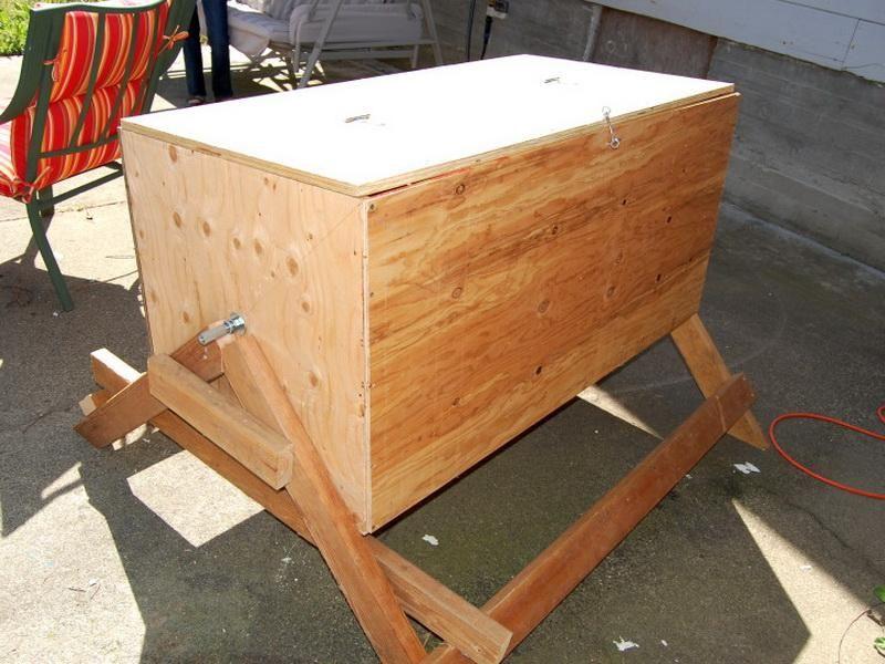 Wooden DIY Compost Bin Compost bin, Diy compost, Compost