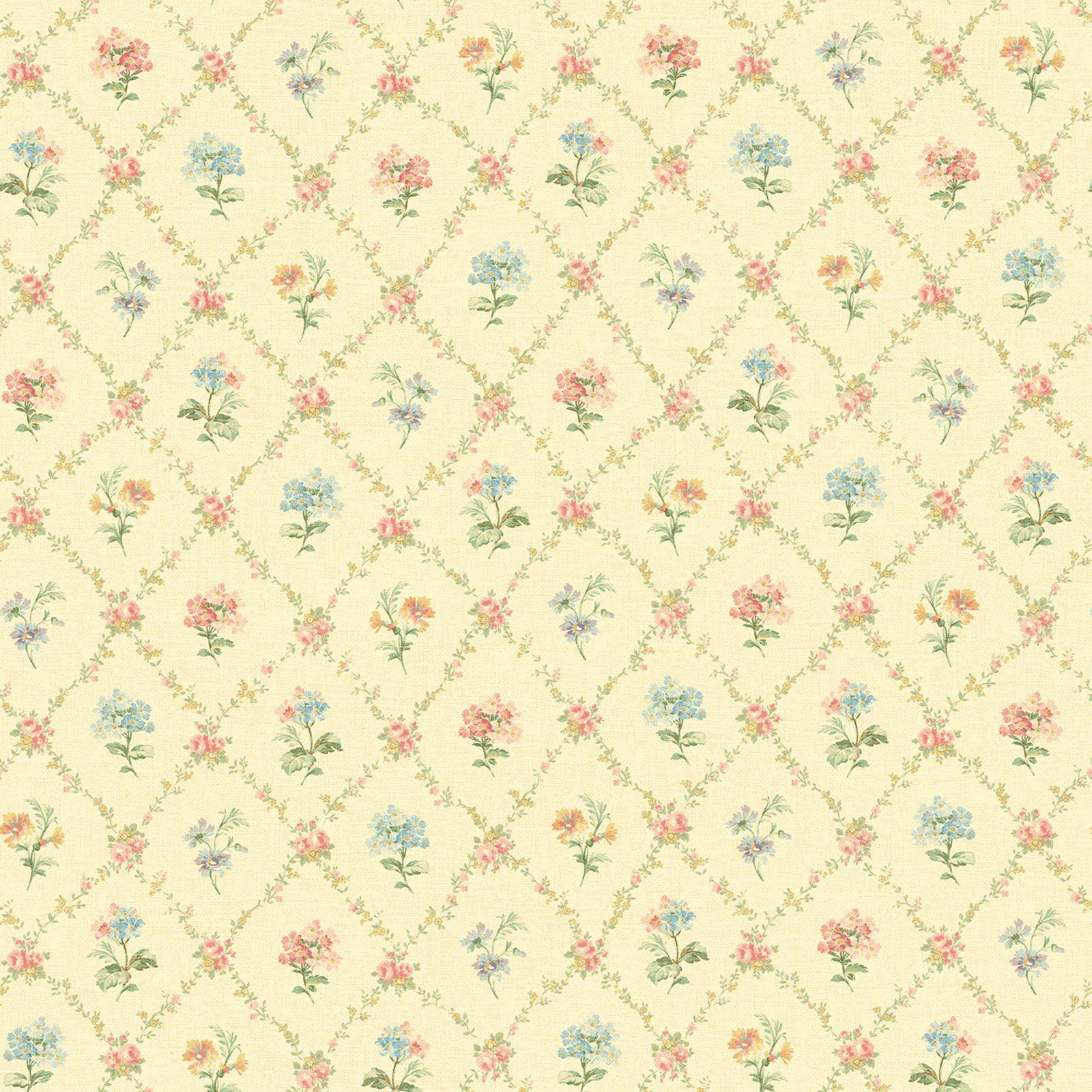Fairwinds Studios Mini Floral Trellis Wallpaper In 2019