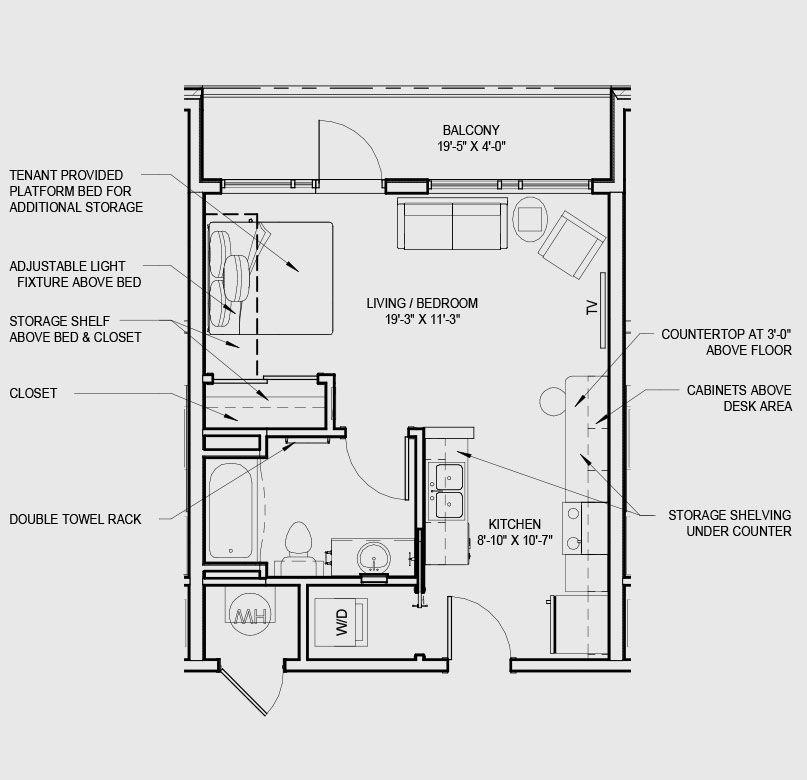 Efficiency Apartment Floor Plan studio apartment floor plans - bing images   inspiration