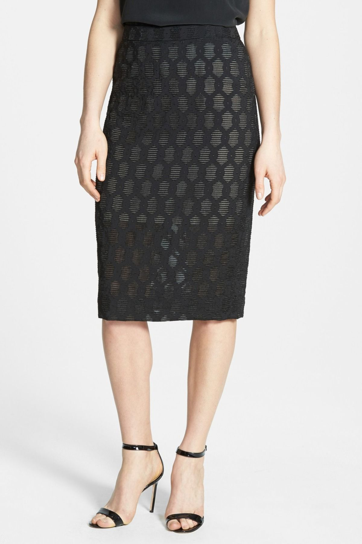 Braided Jacquard Pencil Skirt by Classiques Entier on @nordstrom_rack