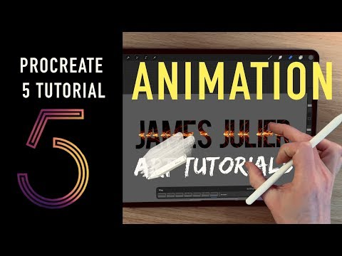Procreate 5 TUTORIAL How to us the ANIMATION features