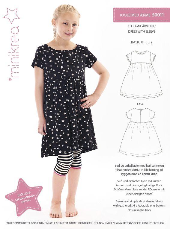 d225bbdd Størrelse: 0 - 10 År Modelbeskrivelse: Sød og enkel kjole med kort ærme og