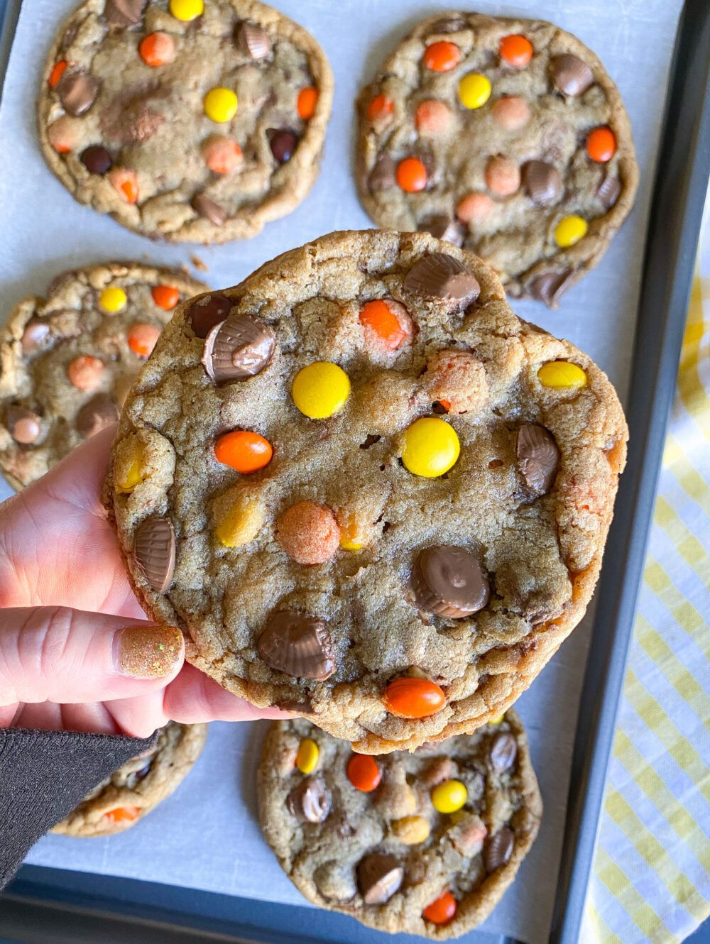 Ultimate Peanut Butter Cup Monster Cookies - Easy Recipe!
