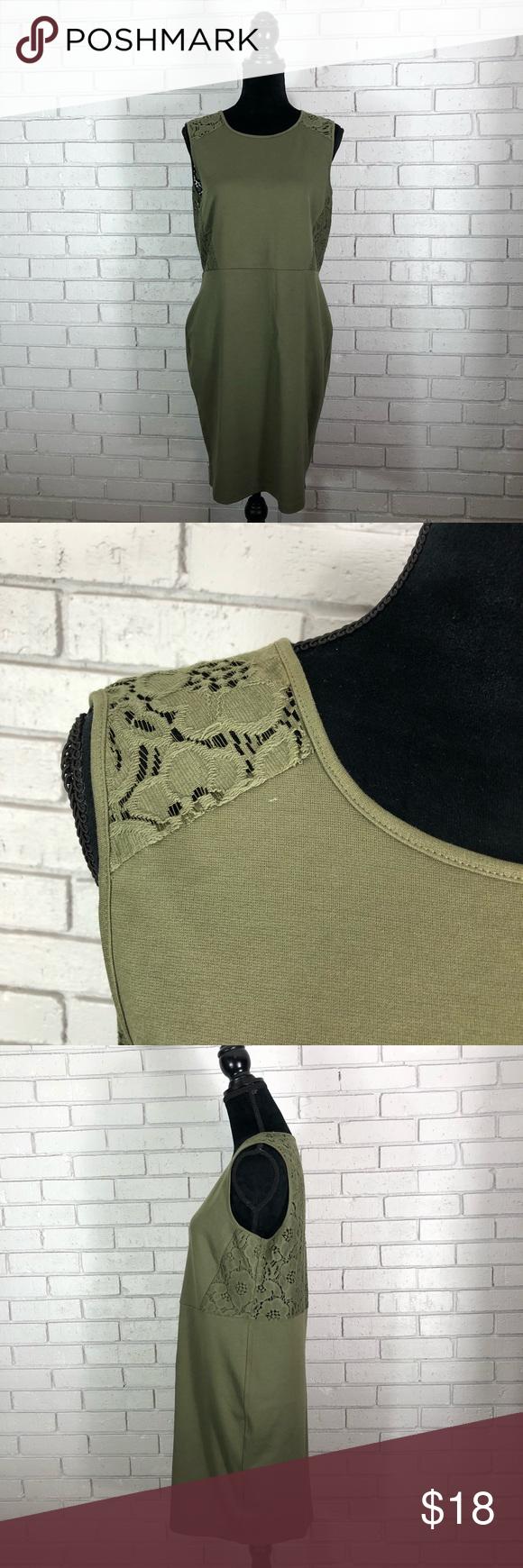 H&m green lace dress  HuM Womenus Olive Green Dress  Pinterest