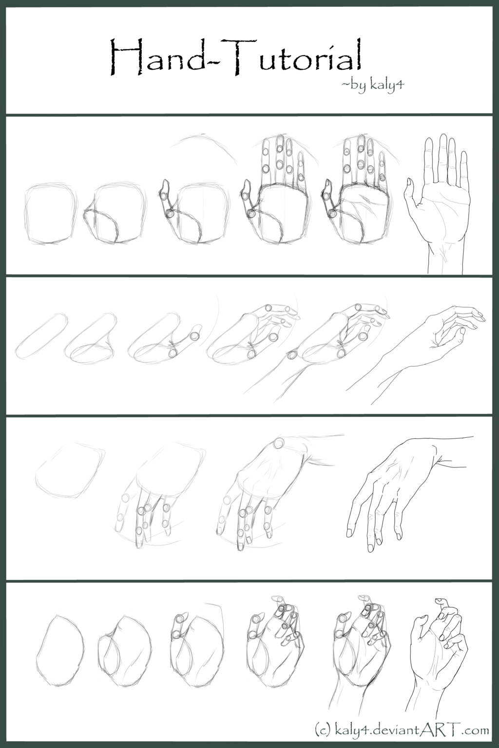 .Hand Tutorial. by Kaly4 on deviantART (With images