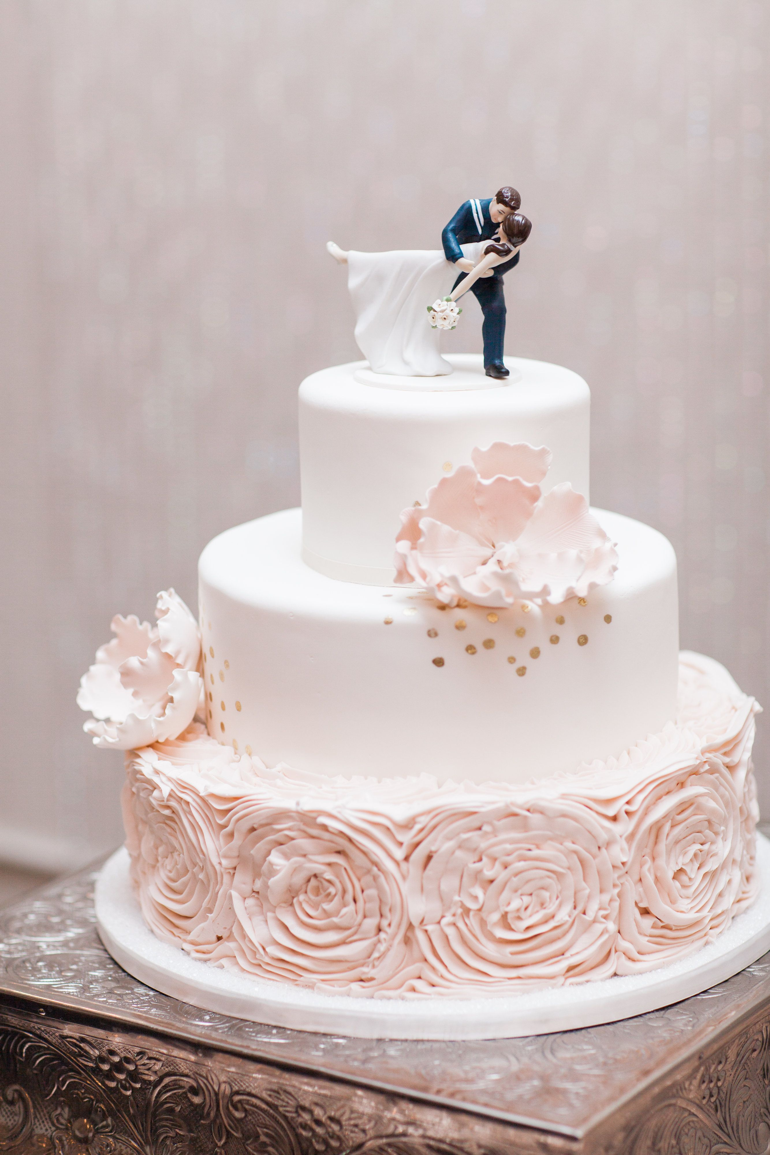 Beautiful cake with military inspired cake topper! #azwedding ...