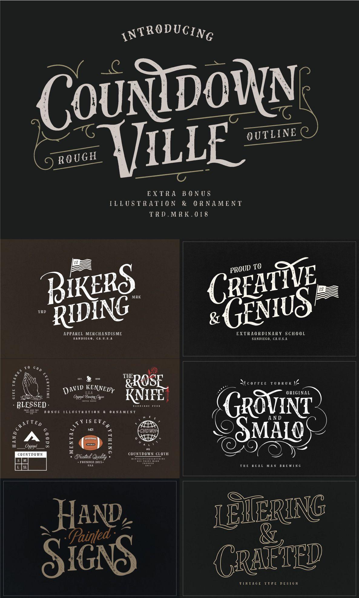 The Industrial Font Bundle Pixel Surplus Resources For Designers Hand Lettering Logo Vintage Fonts Vintage Typography