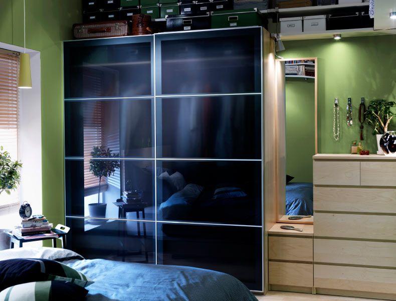IKEA Österreich, Inspiration, Schlafzimmer, PAX Kleiderschrank aus - schlafzimmer kommode mit spiegel