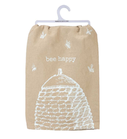 Bee Happy Beehive Dish Towel in 2020 Bee happy, Bee