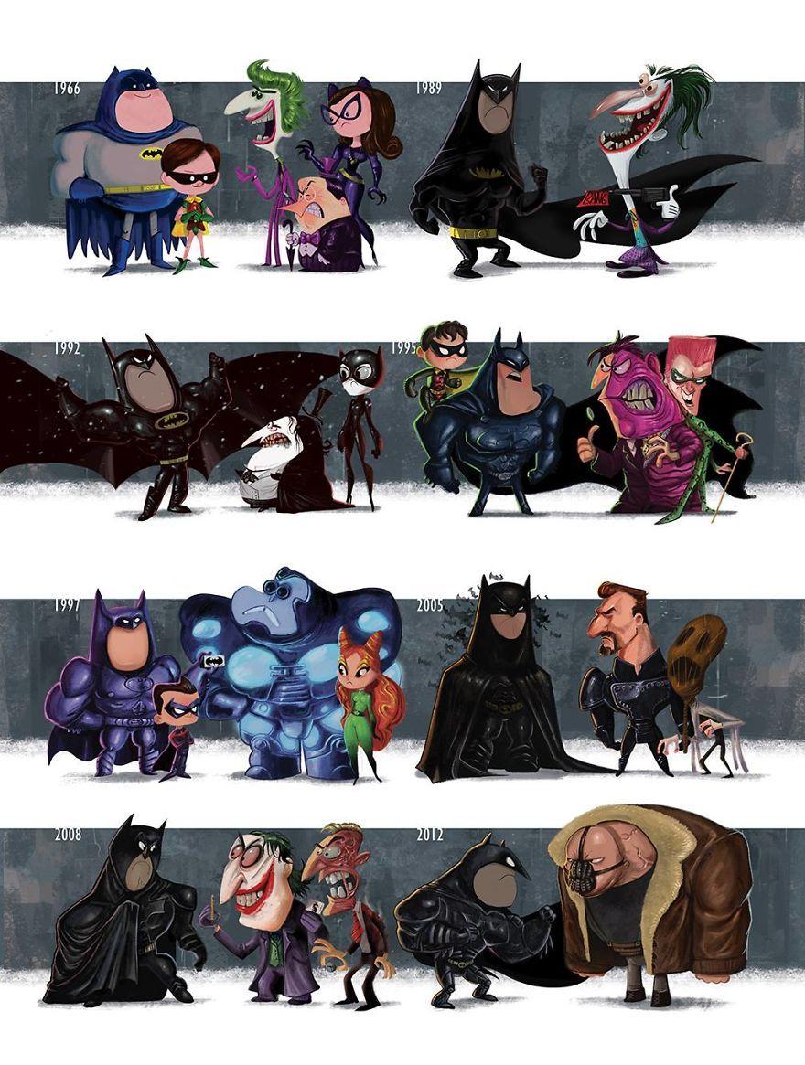 5a27ac4d2e016 Evolução de atores e personagens do cinema