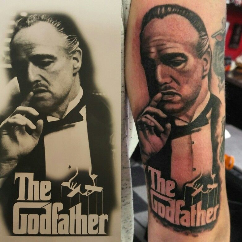 My Godfather Tattoo By Brandon Hunt.