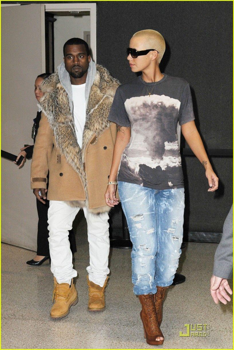 Amber and Kanye Streetstyle