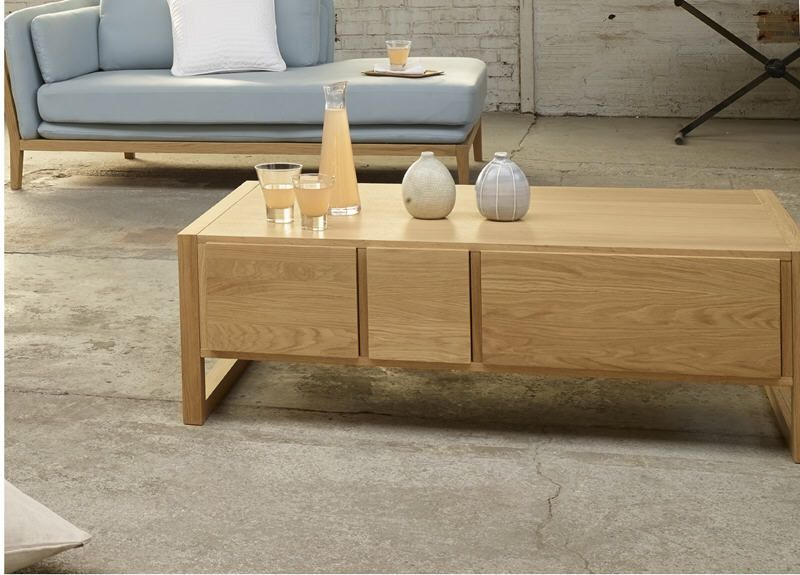 hana table basse naturel bois table basse habitat table. Black Bedroom Furniture Sets. Home Design Ideas