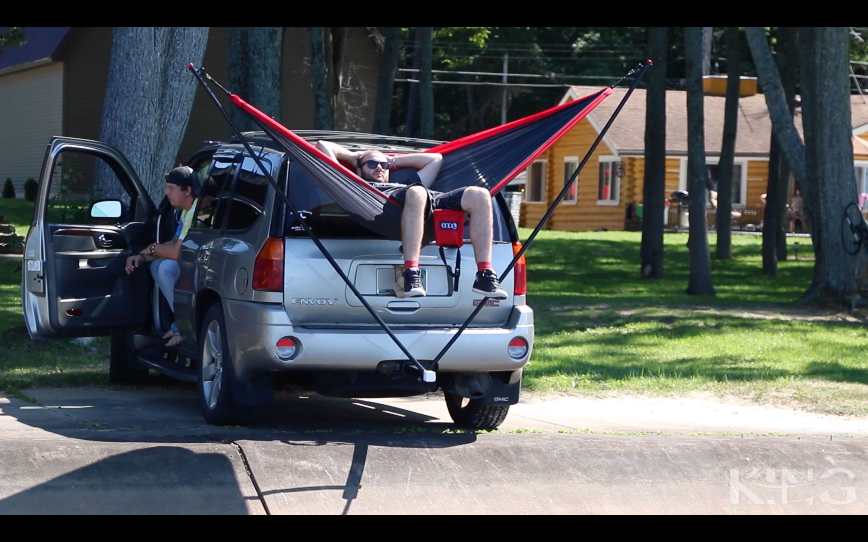 Hammock King The Collapsible Trailer Hitch Hammock Stand For Your