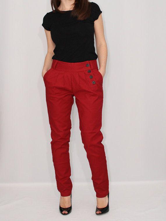 women red pants - Pi Pants