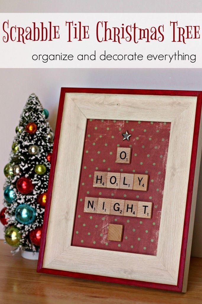 Christmas Decor - o - holy - night - scrabble - tile - christmas ...