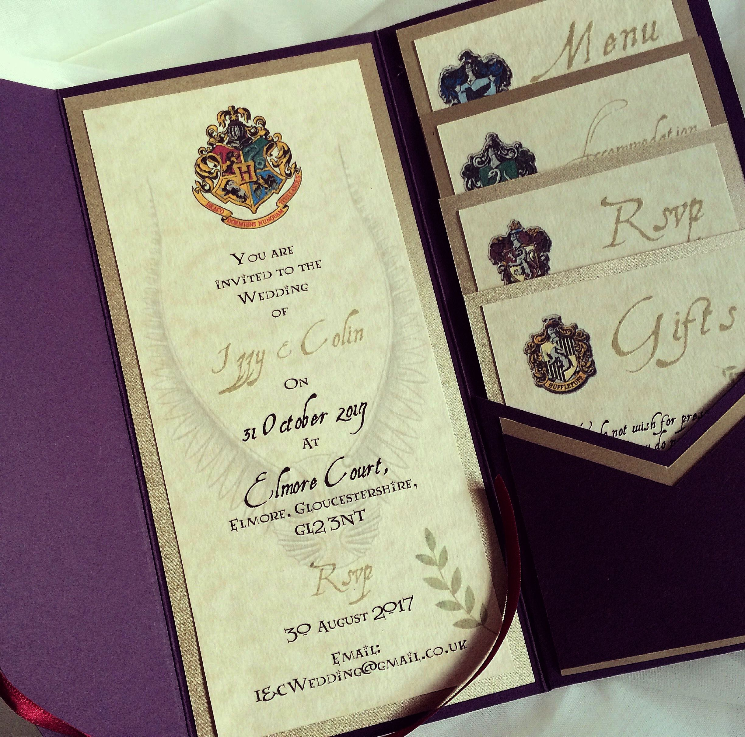 Harry Potter Movies In A Row Harry Potter Character Justin Lot Harry Pott Harry Potter Wedding Theme Harry Potter Wedding Invitations Harry Potter Invitations